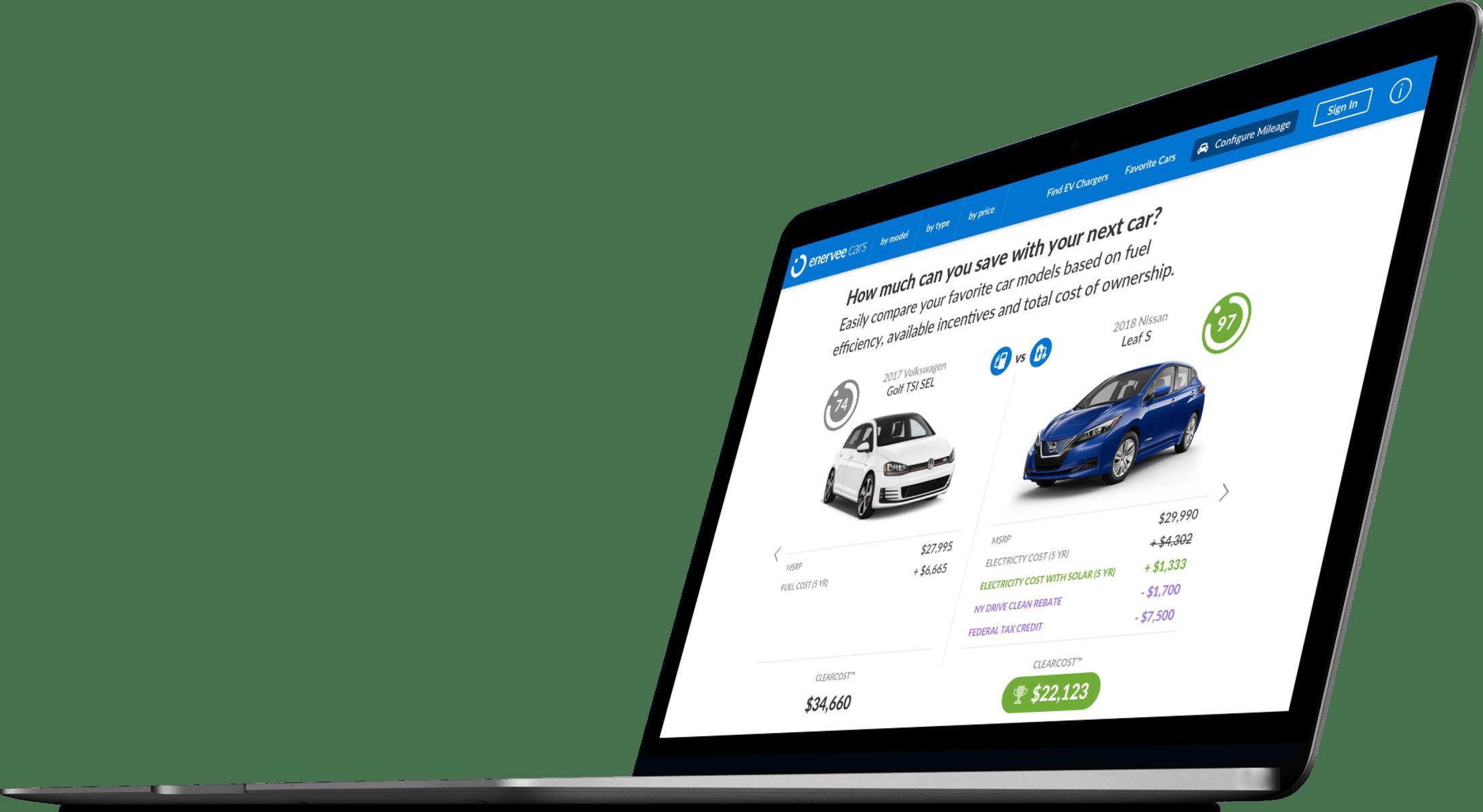 Enervee Cars screenshot