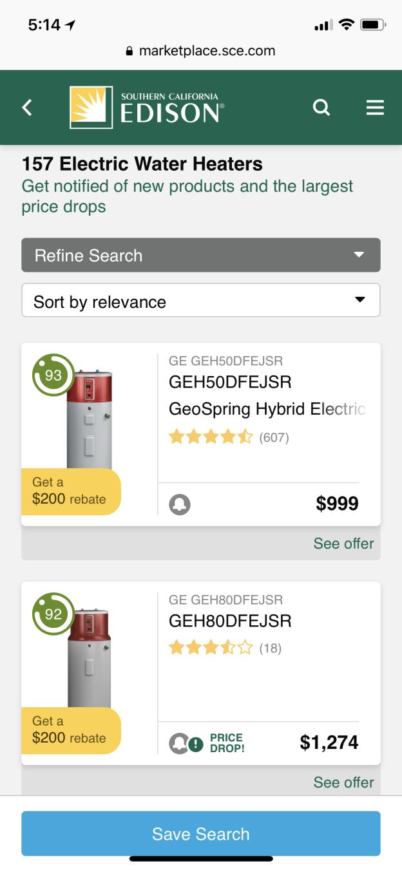 Enervee Marketplace screenshot
